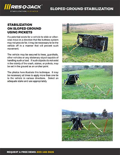 Res-Q-Jack Sloped Ground Stabilization