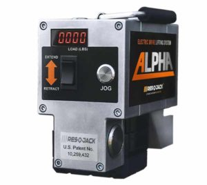 Alpha Electric Drive Lifting System - Back View